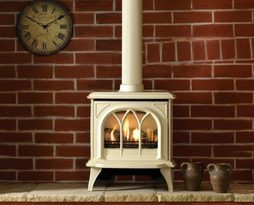 Gazco Huntingdon 30 Gas Stove in Ivory enamel