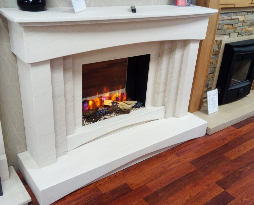 Georgia Double Hearth Fireplace Suite with Infinity 480 Electric Fire