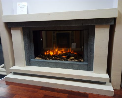 Davenport Fireplace with Infinity Electric Fire