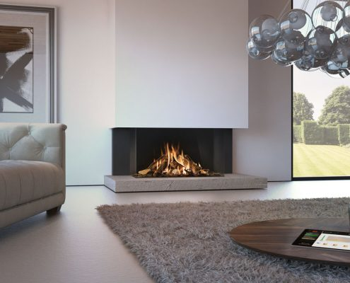 Dru Maestro 105 Eco Wave 3 Sided Gas Fire