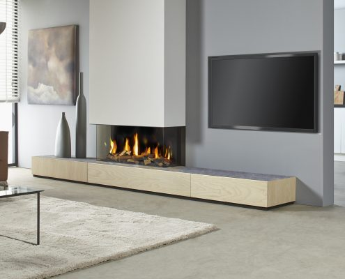 Dru Metro 100XT/3 - 130XT/3 Eco Wave 3-Sided Gas Fire