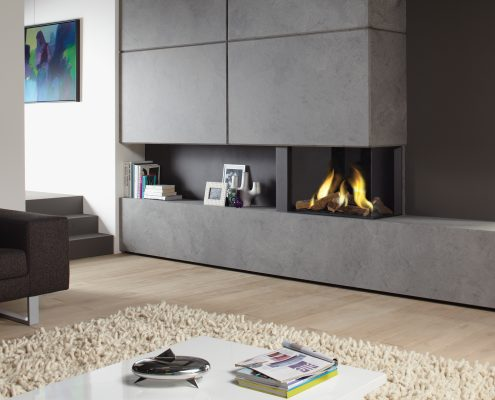 Dru Lugo 70/2 Eco Wave Two Sided Gas Fire
