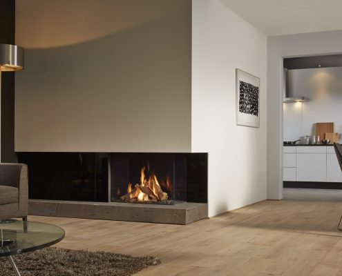 Dru Maestro 80/2 Eco Wave Two Sided Gas Fire with Ceraglass