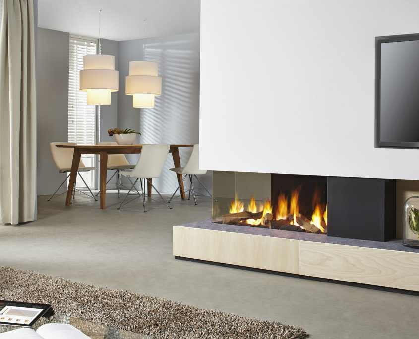 Dru Metro 100XTL Eco Wave 3-Sided Gas Fire