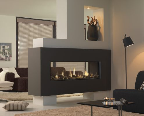 Dru Metro 150XT Tunnel Eco Wave Gas Fire
