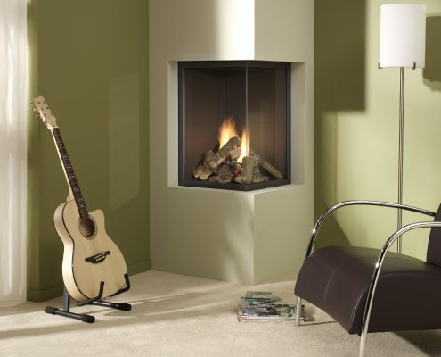 Dru Paco Eco Wave Two Sided Gas Fire