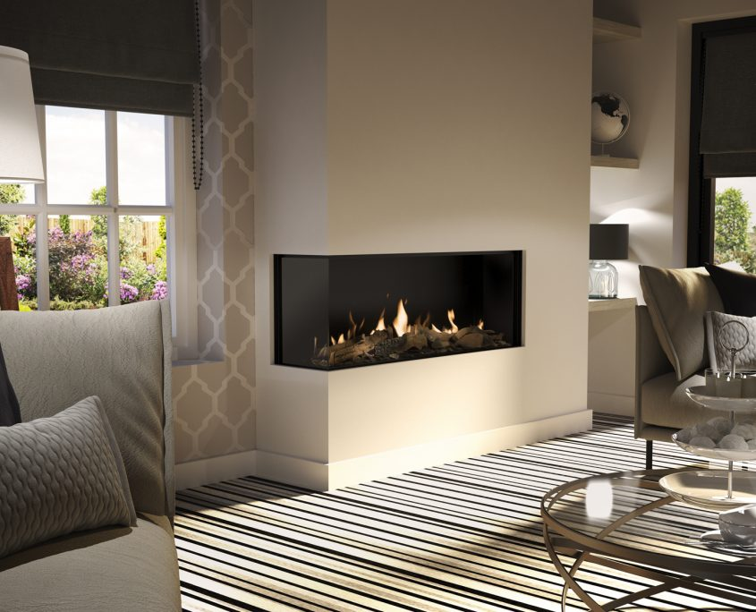 Dru Global 120 Corner Balanced Flue Gas Fire