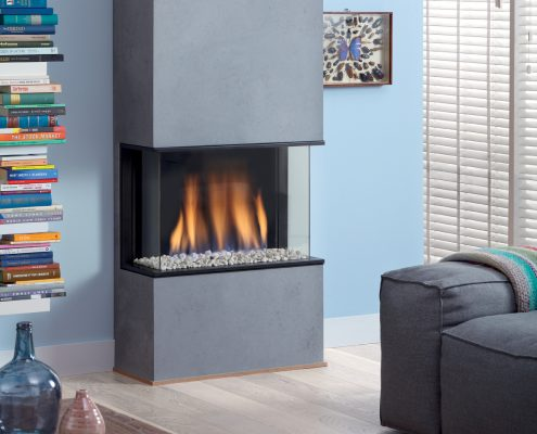 Dru Global 60 3-Sided Balanced Flue Gas Fire