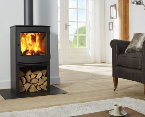 Dik Geurts Ivar 5 Woodburning Stove with Store
