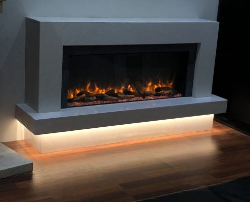 Infinity 890E Electric Fire in Marble Surround