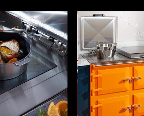 Everhot 110+ Range Cooker in orange